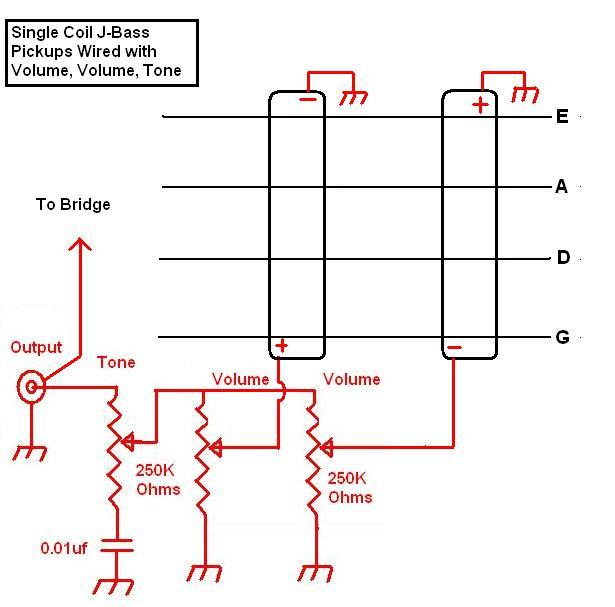 j bass_wiring_diagram1 pickup wiring two pickup guitar wiring diagram at fashall.co
